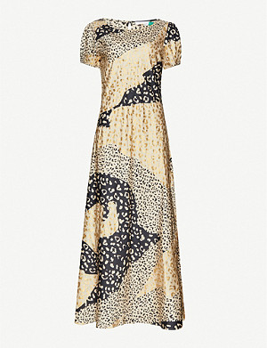 RIXO Reese leopard-print silk-satin midi dress