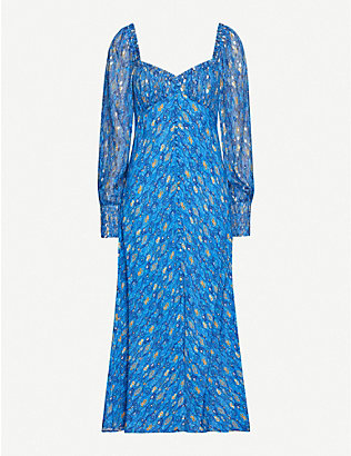 RIXO: Miriam silk midi dress