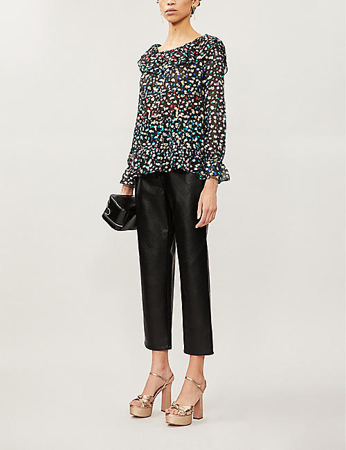 RIXO Chloe floral-print coupe-fils top