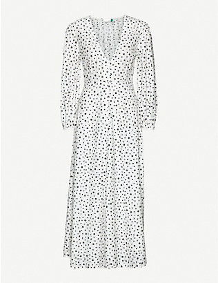 RIXO: Blair star-print broderie-anglaise cotton maxi dress