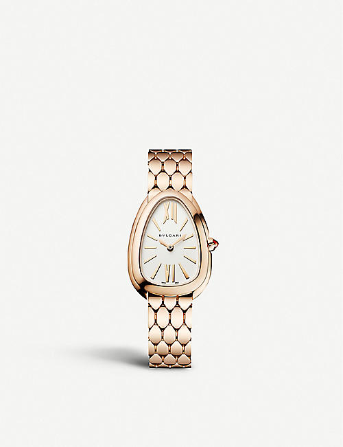 BVLGARI: Serpenti Seduttori 18ct pink-gold watch