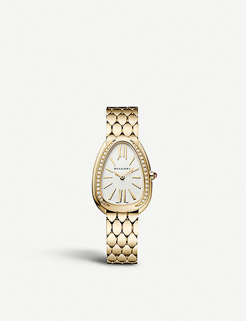 BVLGARI: 103147 Serpenti Seduttori 18ct yellow-gold and diamond watch
