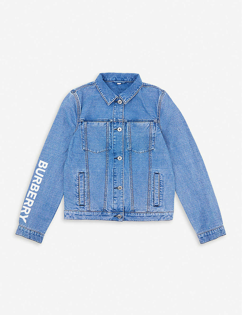 BURBERRY: Branded denim jacket 4-14 years