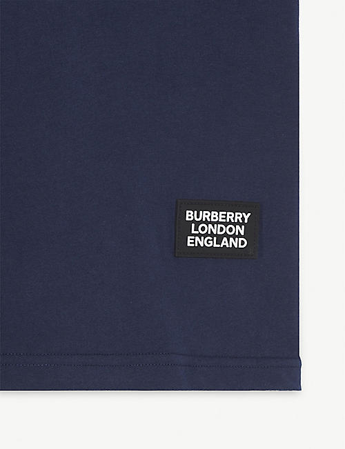 BURBERRY Icon stripe trim T-shirt 3-14 years
