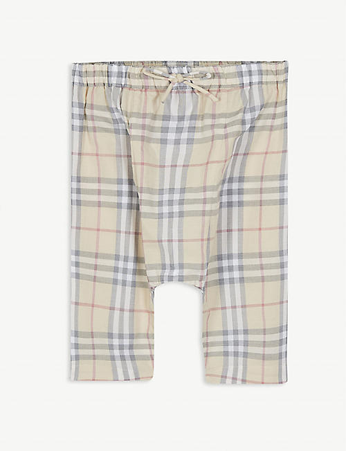 BURBERRY: Liberty check trousers 3-18 months