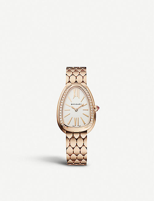 BVLGARI: 103146 Serpenti Seduttori 18ct rose-gold and diamond watch