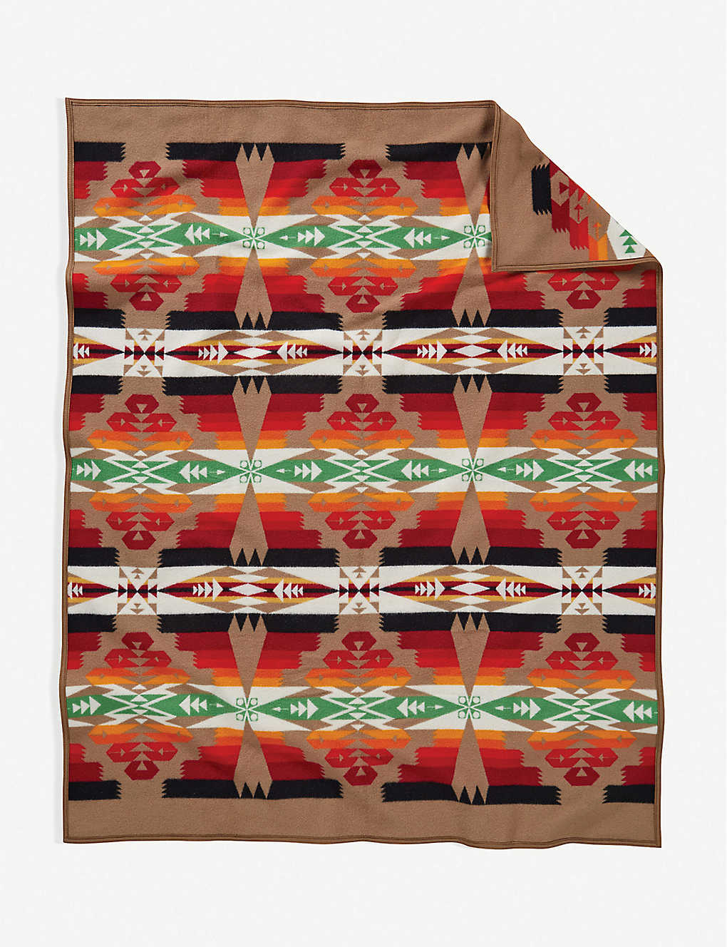 PENDLETON: Tucson graphic-print wool-and-cotton blanket 80cm x 60cm