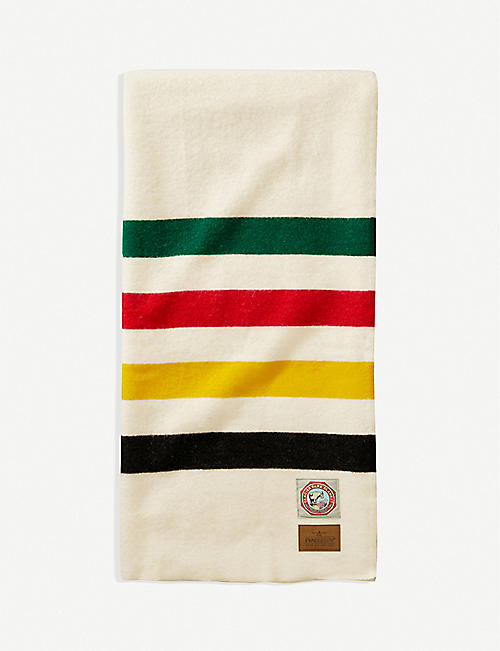 PENDLETON: Glacier National Park striped wool throw 76cm x 54cm