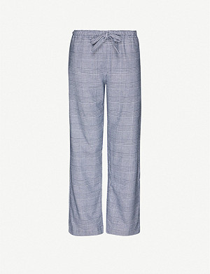DEREK ROSE Kelburn brushed cotton-flannel pyjama bottoms