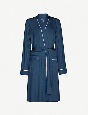 DEREK ROSE Lara piped stretch-jersey dressing gown