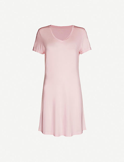 DEREK ROSE: Lara V-neck stretch-woven night gown
