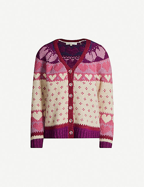 LOVESHACKFANCY Deena intarsia knitted cardigan