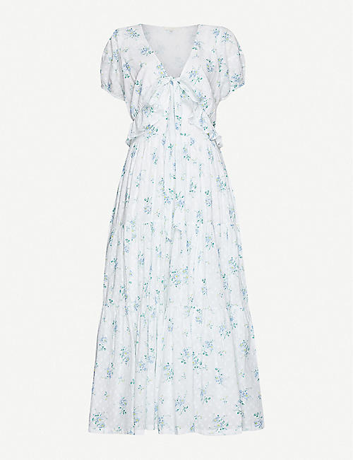 LOVESHACKFANCY Carlton floral-print cotton midi dress