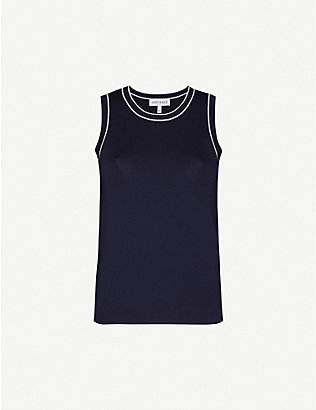 ODYSSEE: Liberte sleeveless knitted top