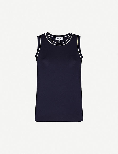 ODYSSEE Liberte sleeveless knitted top