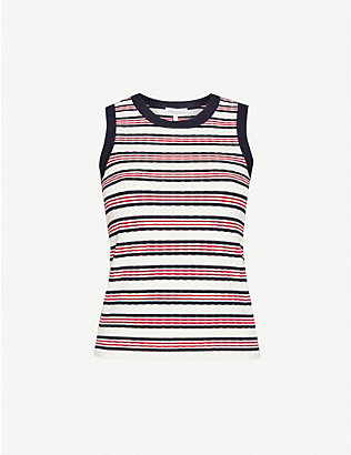 ODYSSEE: Liberte striped knitted top
