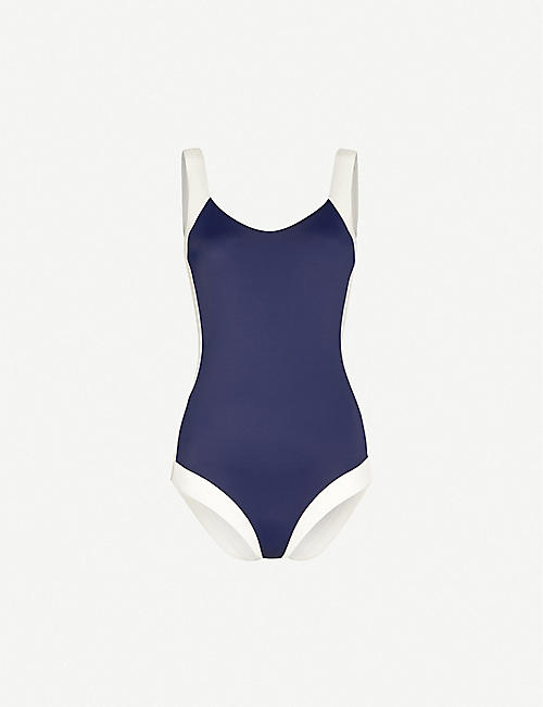 ODYSSEE Aurelia contrast-panel fitted swimsuit