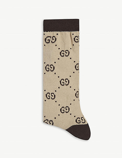GUCCI: GG pattern socks 6-12 years