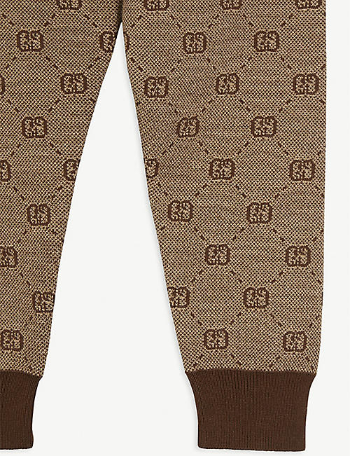 GUCCI GG Supreme print wool and cotton blend leggings 4-8 years