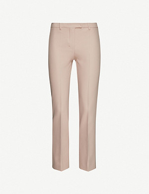 S MAX MARA High-rise cropped stretch-crepe trousers