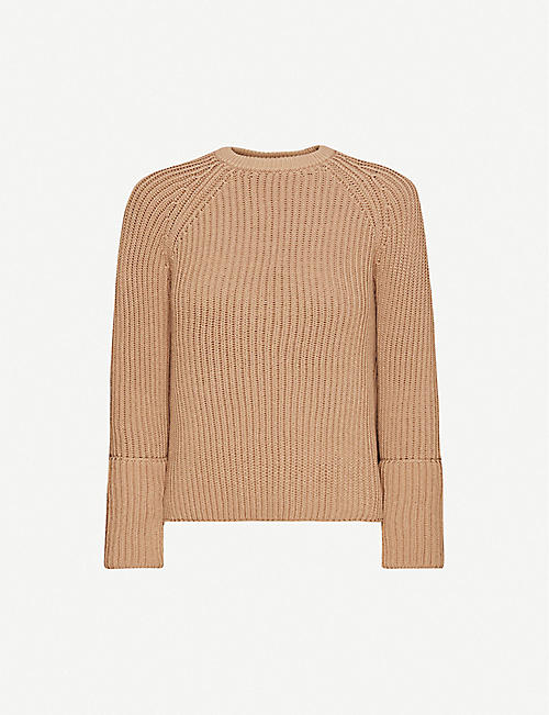 S MAX MARA: Bugia raglan-sleeve cotton-blend jumper