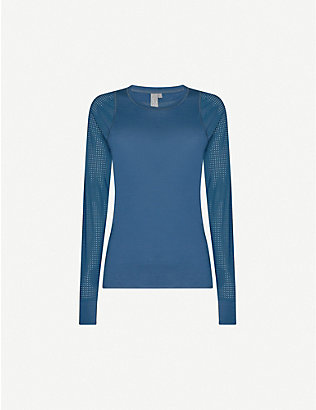 SWEATY BETTY: Breeze wool-blend run top