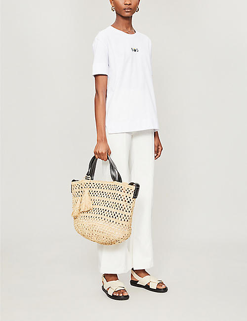 STELLA MCCARTNEY Raffia logo bag