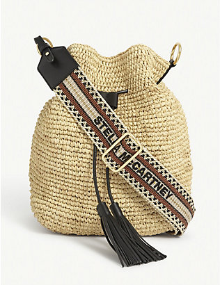 STELLA MCCARTNEY: Straw bucket bag
