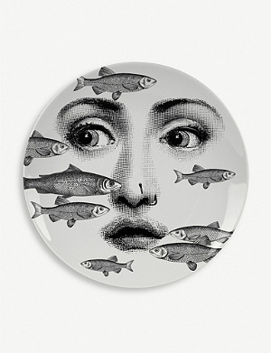 FORNASETTI No. 392 porcelain wall plate 26cm