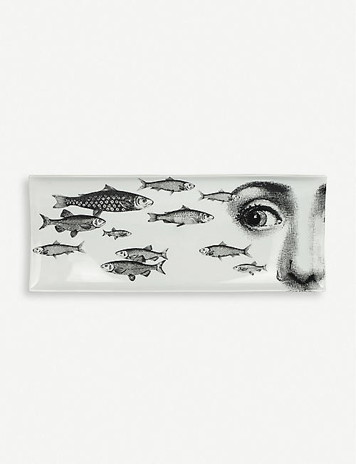 FORNASETTI: No. 392 porcelain tray 38cm x 14cm