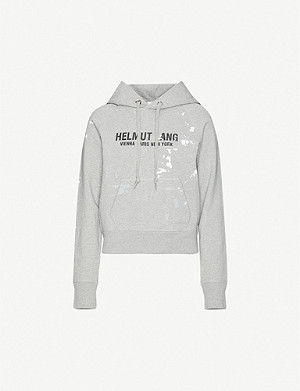 HELMUT LANG Slim Painter cotton-jersey hoody