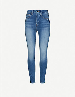 GOOD AMERICAN: Good Waist skinny high-rise stretch-denim jeans