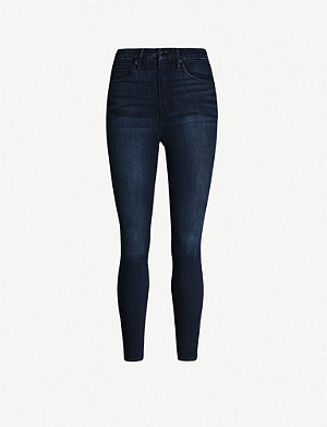 GOOD AMERICAN Good Waist cropped high-rise skinny jeans