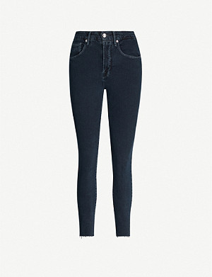 GOOD AMERICAN Good Legs Raw Edge stretch-denim jeans