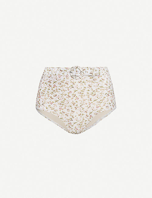 PEONY La Boheme stretch-recycled polyamide bikini bottoms
