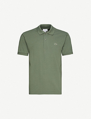 LACOSTE Logo-embroidered cotton-pique polo shirt