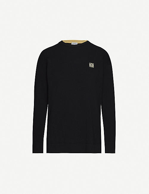 LOEWE Anagram logo-embroidered wool jumper
