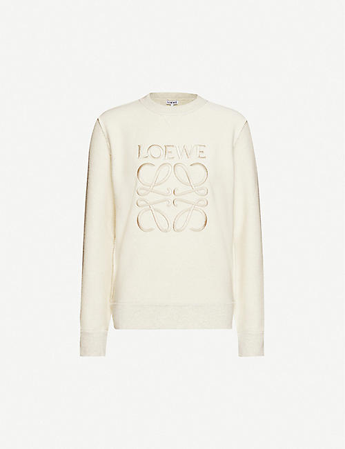 LOEWE Anagram logo-embroidered cotton-jersey sweatshirt