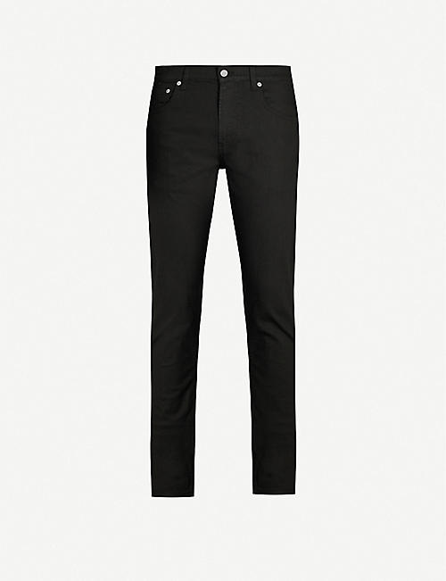 ALEXANDER MCQUEEN: Logo-embroidered tapered jeans
