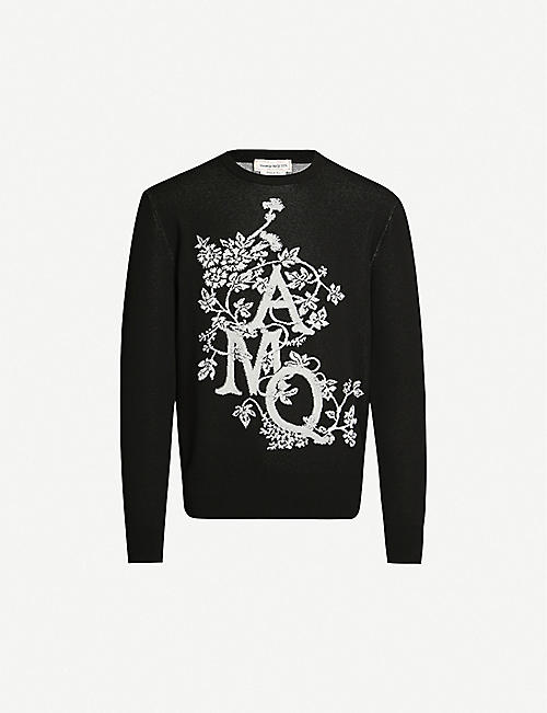 ALEXANDER MCQUEEN Logo-embroidered cotton-blend jumper