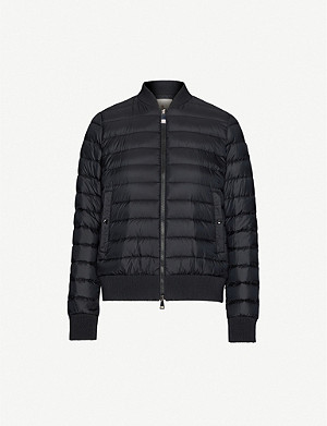 MONCLER Abricot padded shell-down jacket