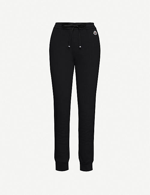 MONCLER Marl-pattern cotton-jersey jogging bottoms