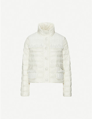 MONCLER: Lunaire high-neck shell jacket
