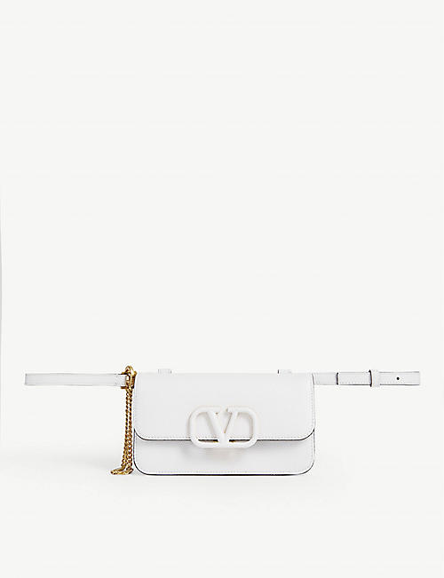 VALENTINO: VRING leather belt bag