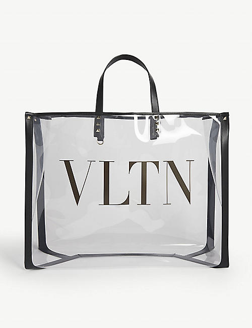 VALENTINO: Grand Plage large transparent tote bag