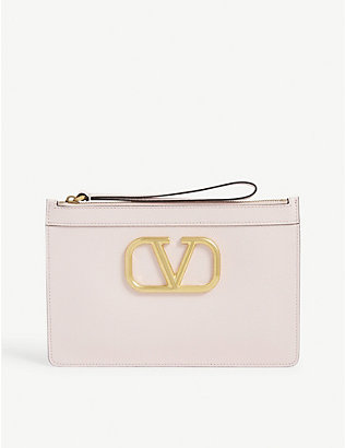 VALENTINO: VLOGO medium leather pouch