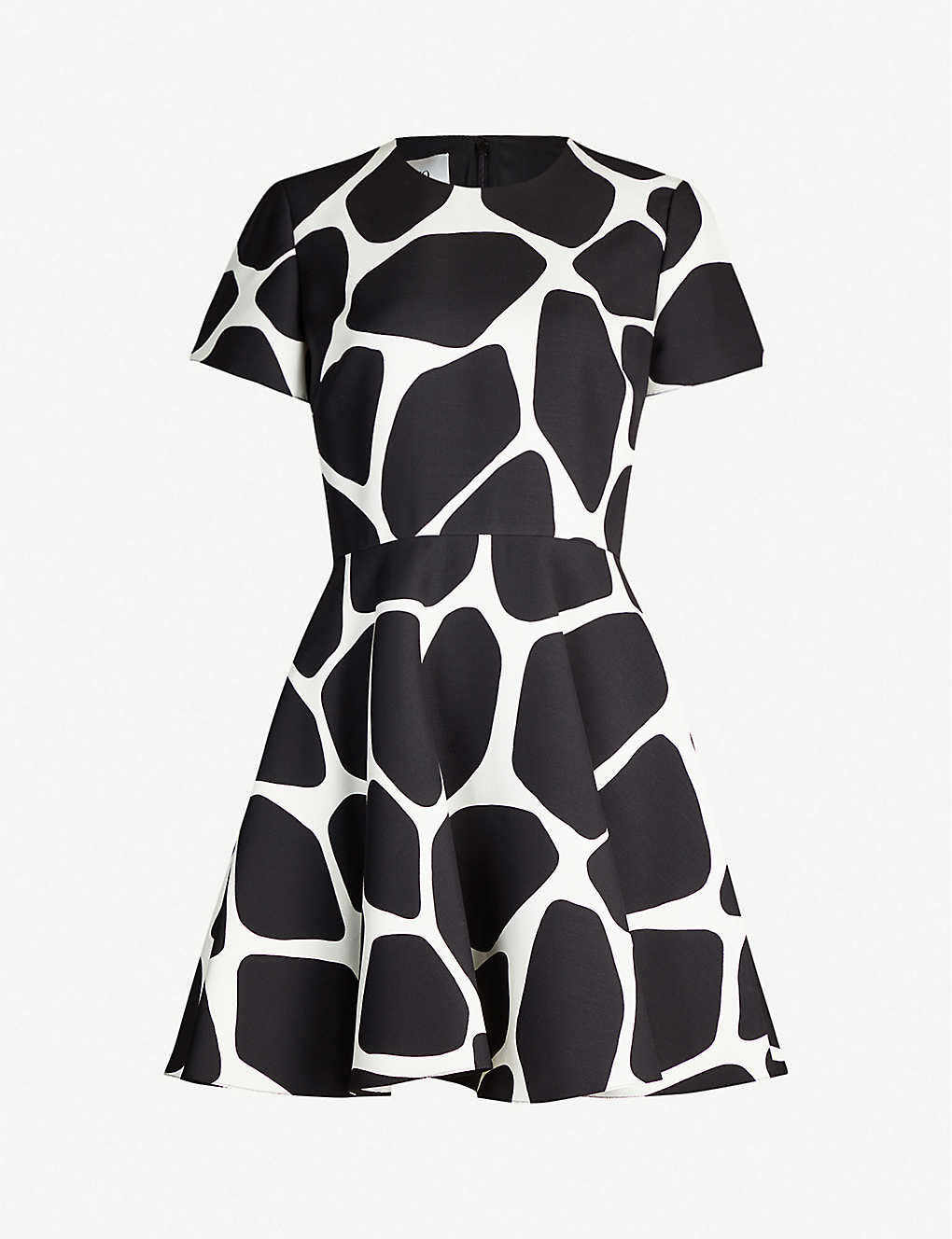 VALENTINO: Giraffe-print wool and silk-blend mini dress