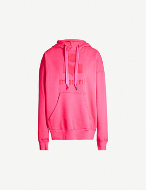ISABEL MARANT ETOILE Mansel logo-appliqué cotton-blend jersey hoody