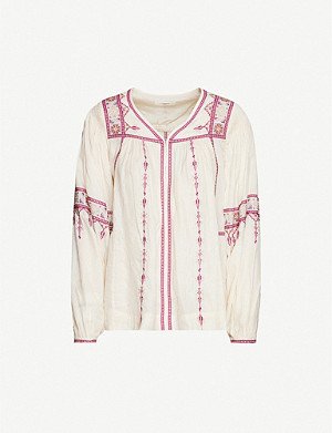 ISABEL MARANT ETOILE Tosca embroidered silk top