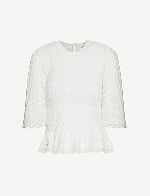 ISABEL MARANT ETOILE Janette shirred viscose top